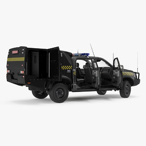 3D prisoner transport vehicle rigged