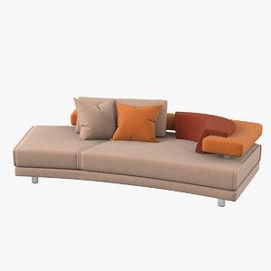 3D il loft rodi sofa model