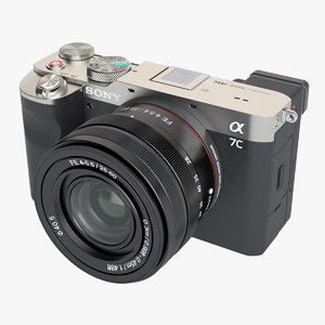 photoreal mirrorless camera sony 3D model