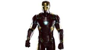 mk46 rigged iron man 3D