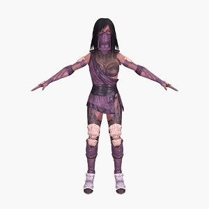 3D mileena rigged games