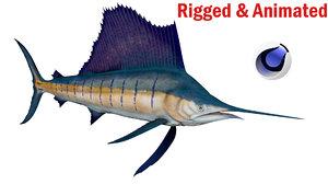 swordfish fish 3D model
