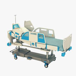 medical bed 3D model