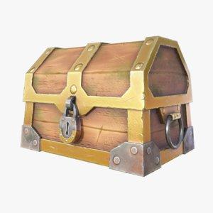 3D model golden chest