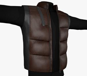 black brown puffer vest model