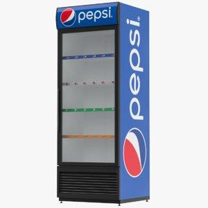 pepsi refrigerator display model