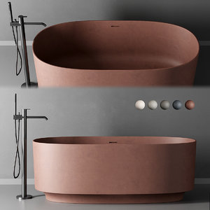 3D model freestanding bathtub