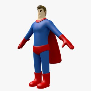 3D man toon character model