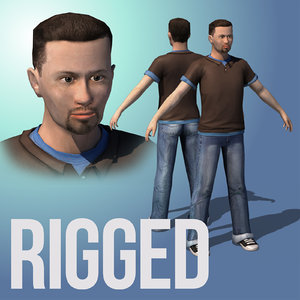 3D rigged male character ready model