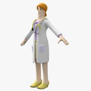 woman doctor 3D model