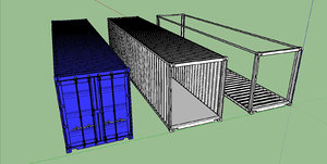 40ft shipping container 3D model