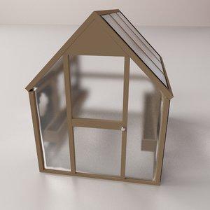 green house greenhouse 3D model