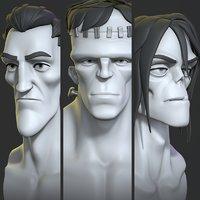 Cartoon monsters base mesh