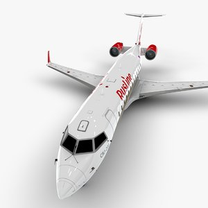 3D bombardier crj 200 l1073