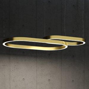 3D model ellipse ceiling light