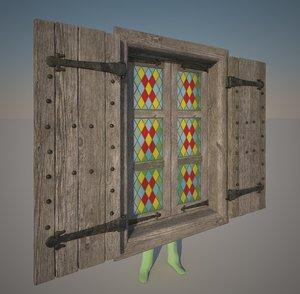 3D model medieval window