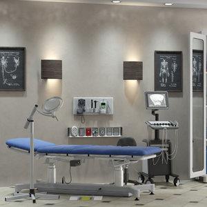 exam room doctor 3D model