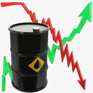 oil barrel graphs 3D