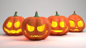 3D pumpkins model