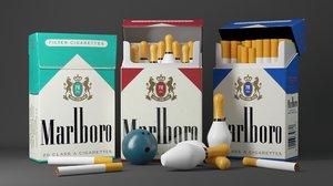 3D cigarettes bowling