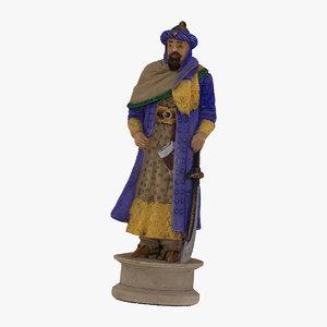 chess piece king black model