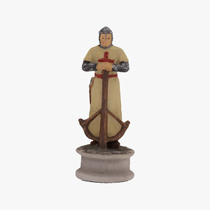 chess piece pawn white 3D