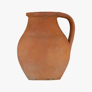 clay pot 05 raw 3D model