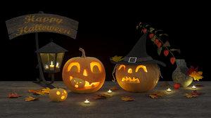 3D halloween happy model