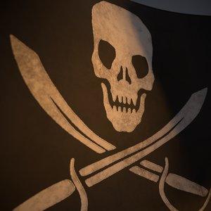 pirate black animation 3D model