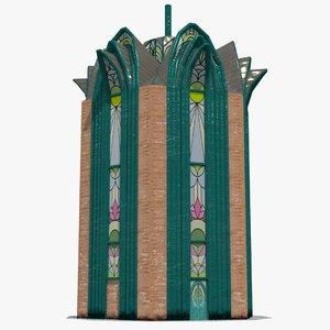 3D tower metallic model