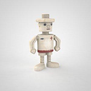 children s plastic toy robot 3D model