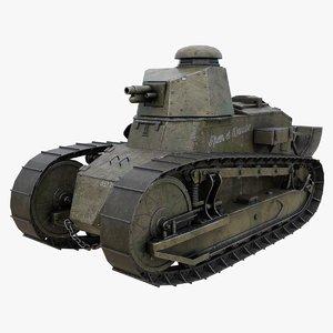 renault ft 3D model
