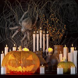 set halloween 3D model