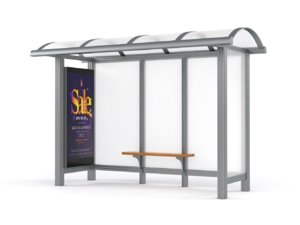 bus station shelter 3D