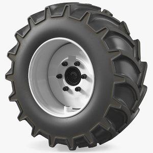 3D tractor wheel