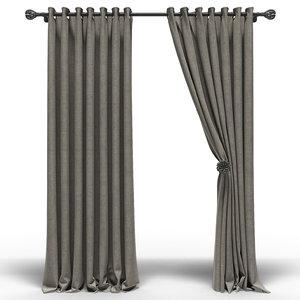curtain fabric 3D model