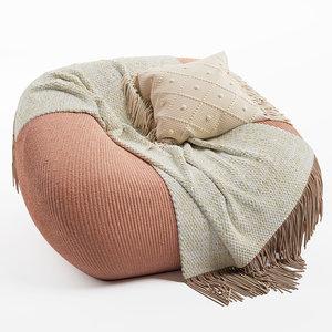 smile armchair paola lenti 3D