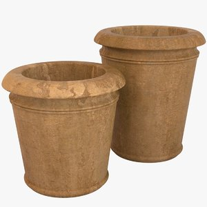 3d model decorative pots