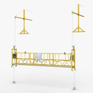 construction lift gameready industrial 3D model