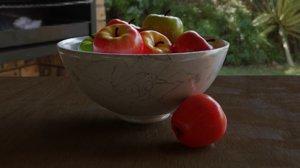 manzanas jugosas 3D model