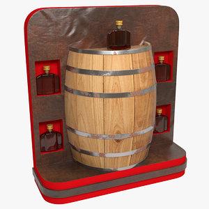 3D brandy sale stand