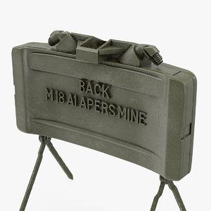 m18a1 claymore anti personnel 3D model