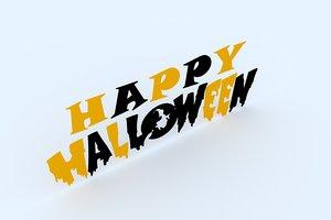3D happy hallowen 1 model