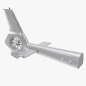 3D helicopter tail rotor copter model