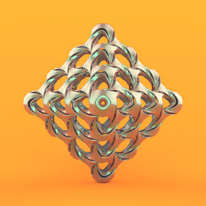 abstract object 3D