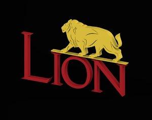 lion logo 3D model