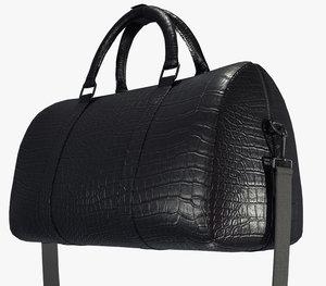 black leather bag strip model