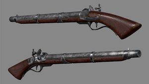 gun musket 3D