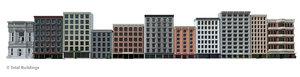 set buildings style 3D model