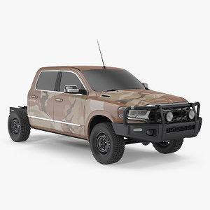 crew cab 4x4 truck 3D model